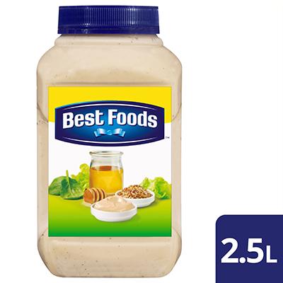 顶好牌蜜汁芥末沙拉酱 2.5L - 以纯正芥末和蜂蜜制成,顶好牌蜜汁芥末沙拉酱是甘甜与鲜香的完美融合。
