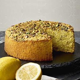 烤开心果柠檬蛋糕