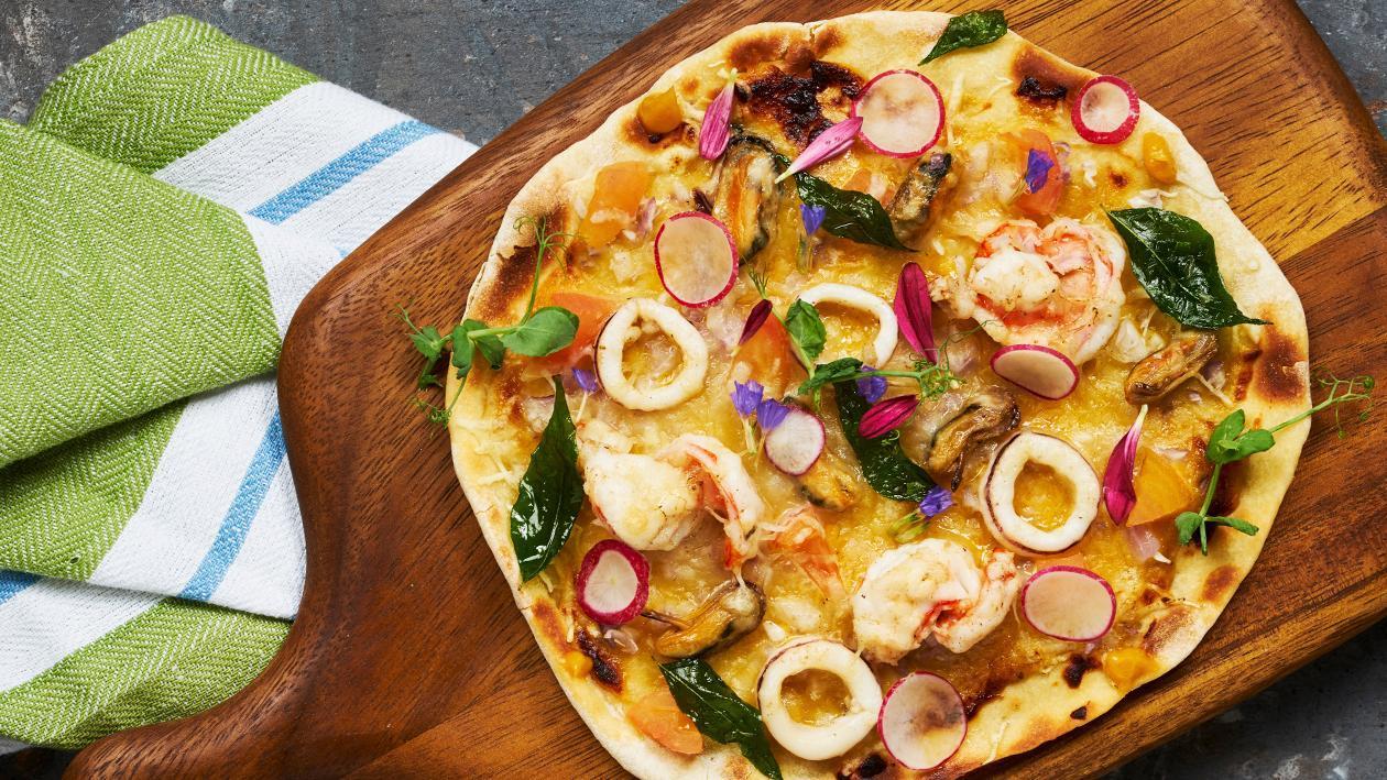 咸蛋海鲜披萨