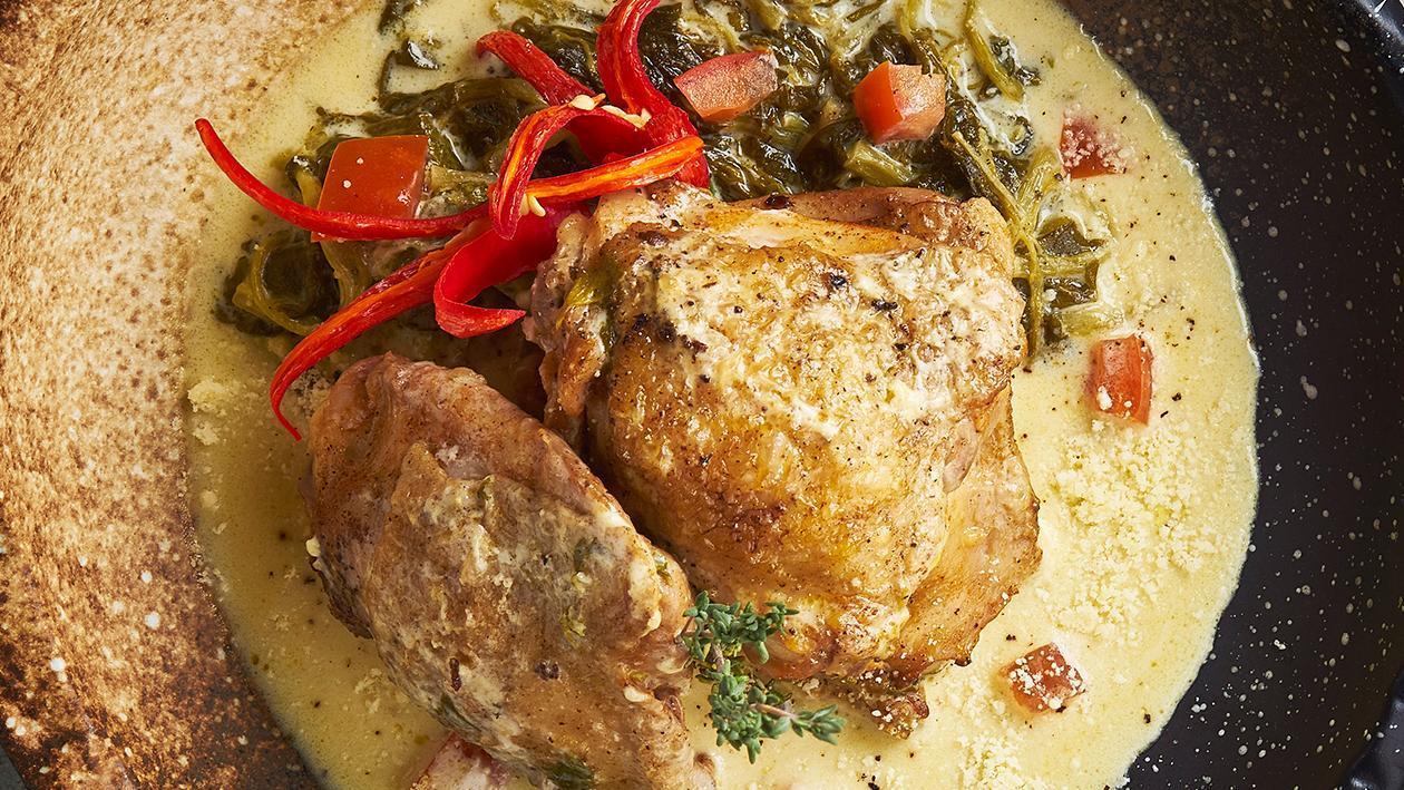奶油鸡配印度香料米饭