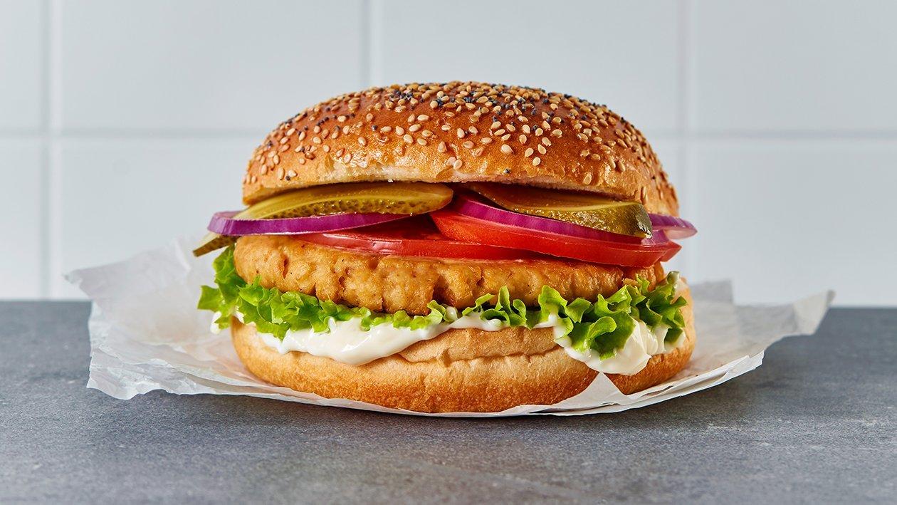 植系鸡肉汉堡