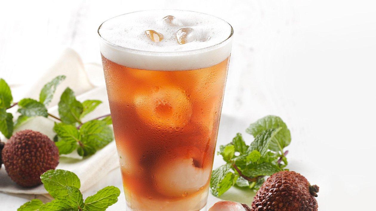 荔枝椰果茶