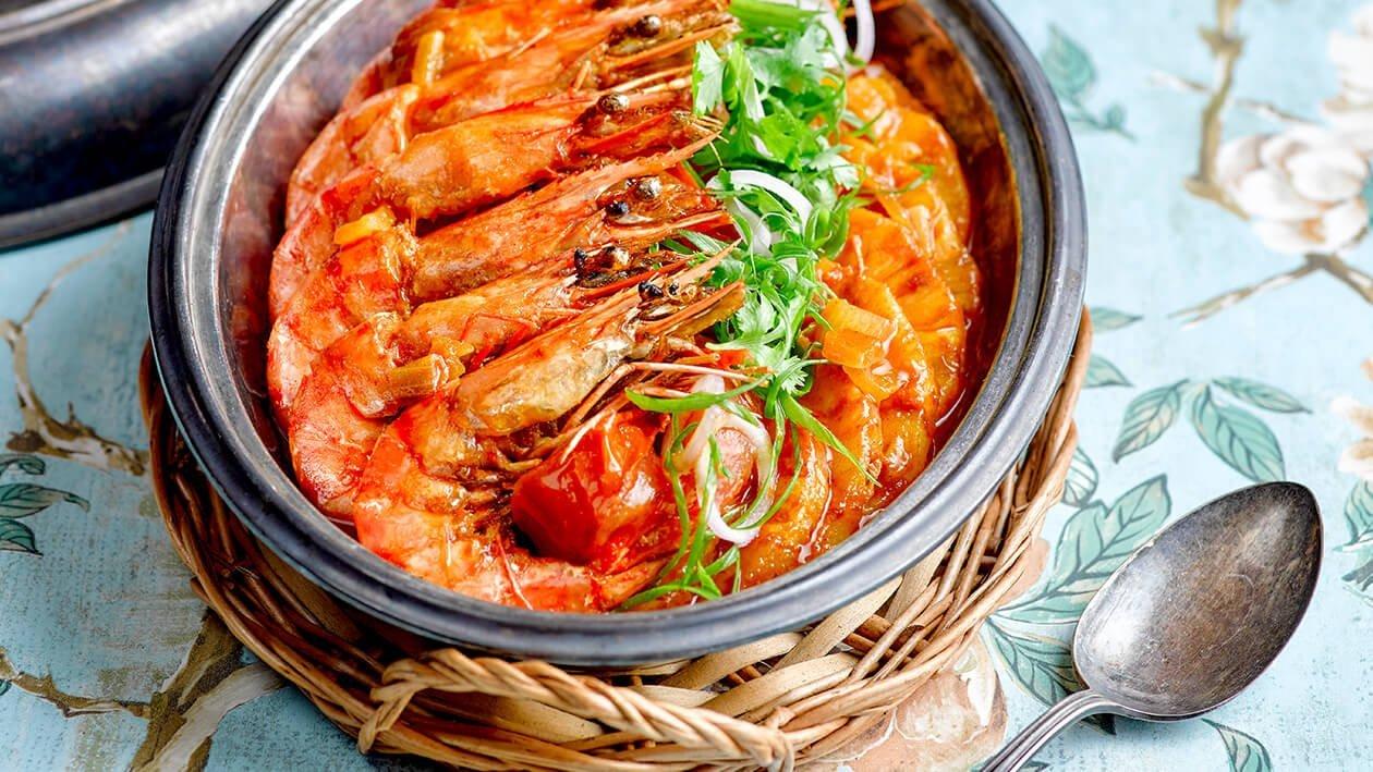 黄梨咖喱虾
