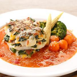 千層菠菜烤多利魚