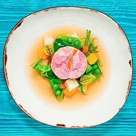 慢煮伊比利梅花豬.丁香與大茴香及無菁風味