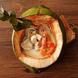 椰香辣味海鮮濃湯