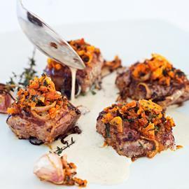 烤豬菲力配法式肉派