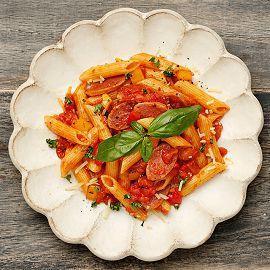羅馬蕃茄臘腸筆尖麵