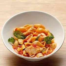 義式海鮮櫛瓜蕃茄麵