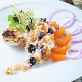 香橙鱈魚沙拉
