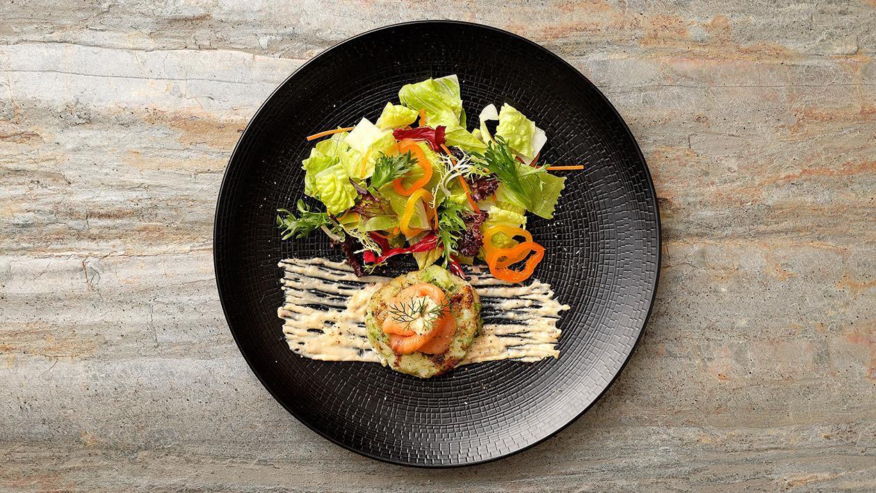 北歐燻鮭魚凱撒沙拉