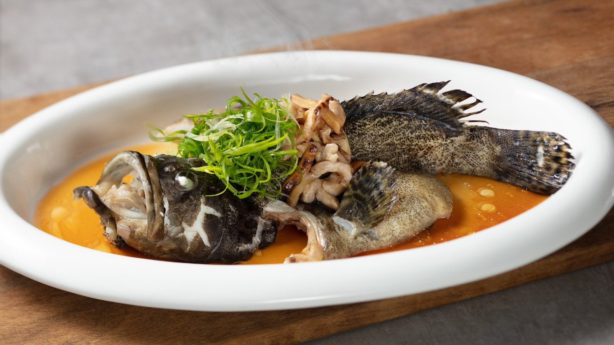 古法雙蠔蠔汁蒸魚