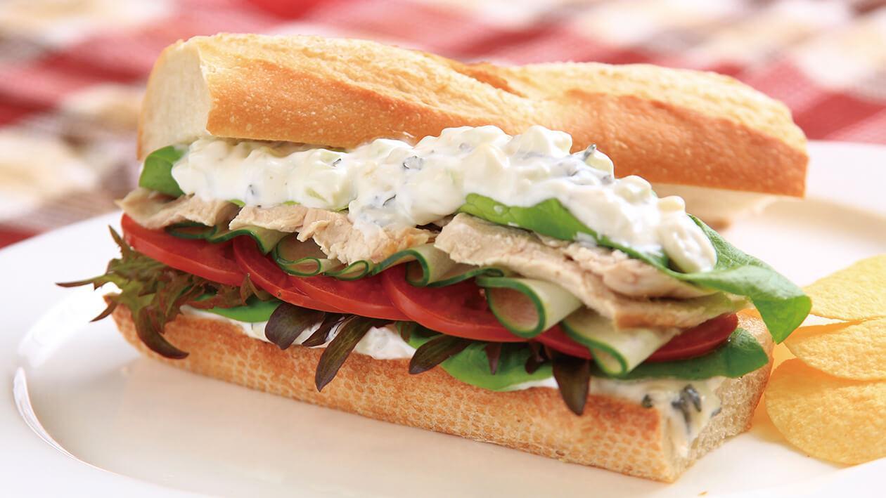 希臘風味雞肉三明治