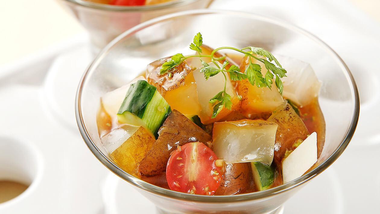 曼波魚膠拌蔬果