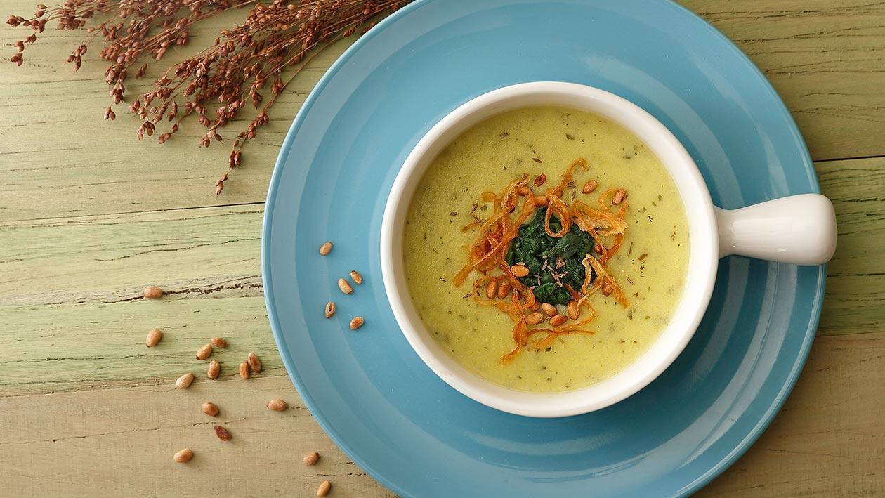 松子菠菜小茴香濃湯
