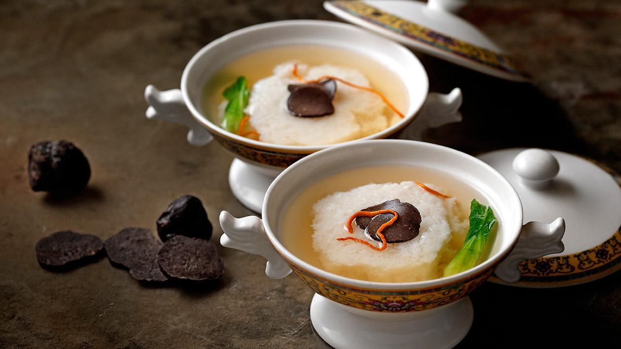 松露雞豆花 (味型:鹹鮮味)