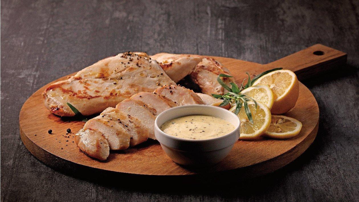 法式伯納西醬汁搭配慢煮雞胸肉