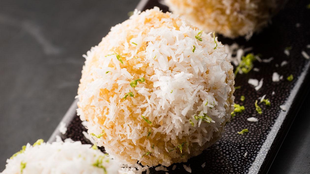 法式椰絲鑲起司脆米炸龍蝦球