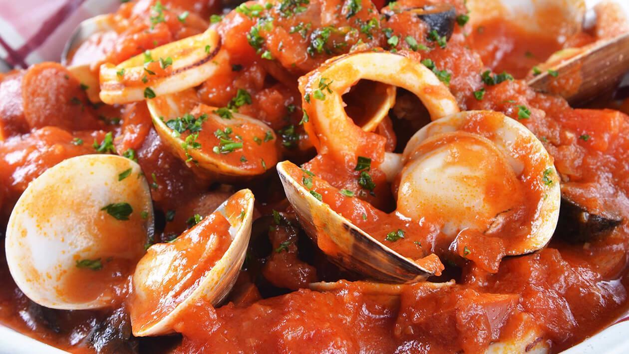 海鮮燴辣肉腸