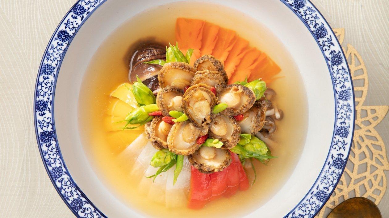 牡丹鮑魚宴菜