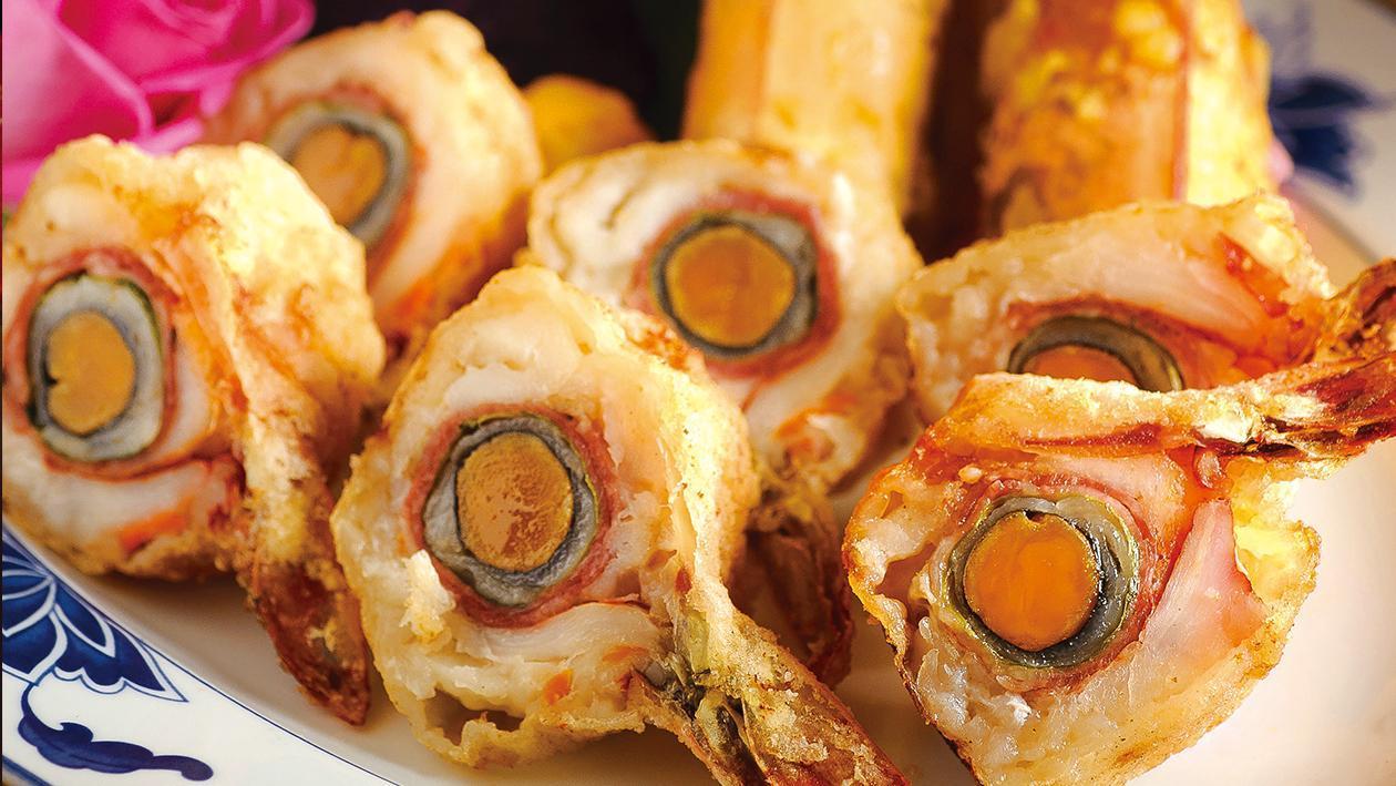 玫瑰蛋黃蝦