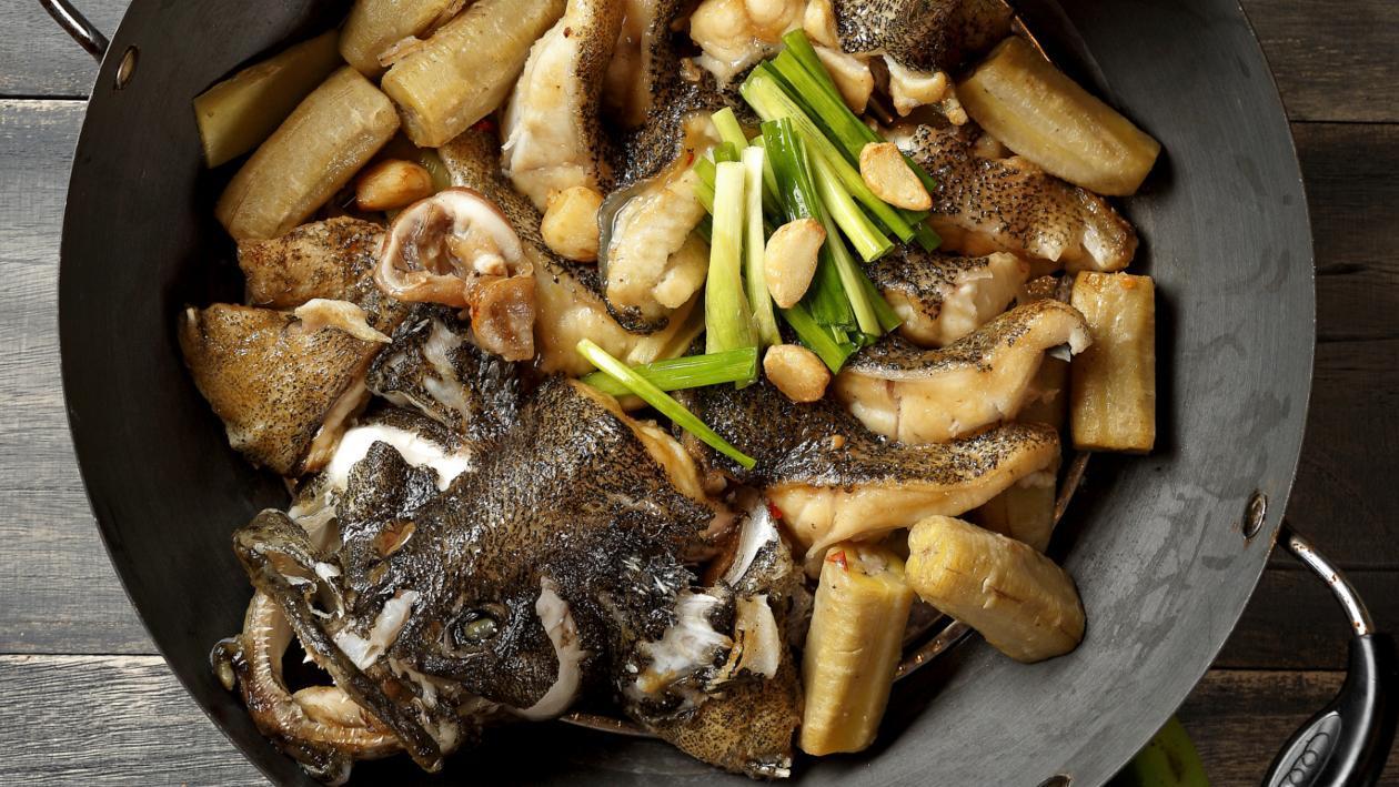 生香蕉清燜魚
