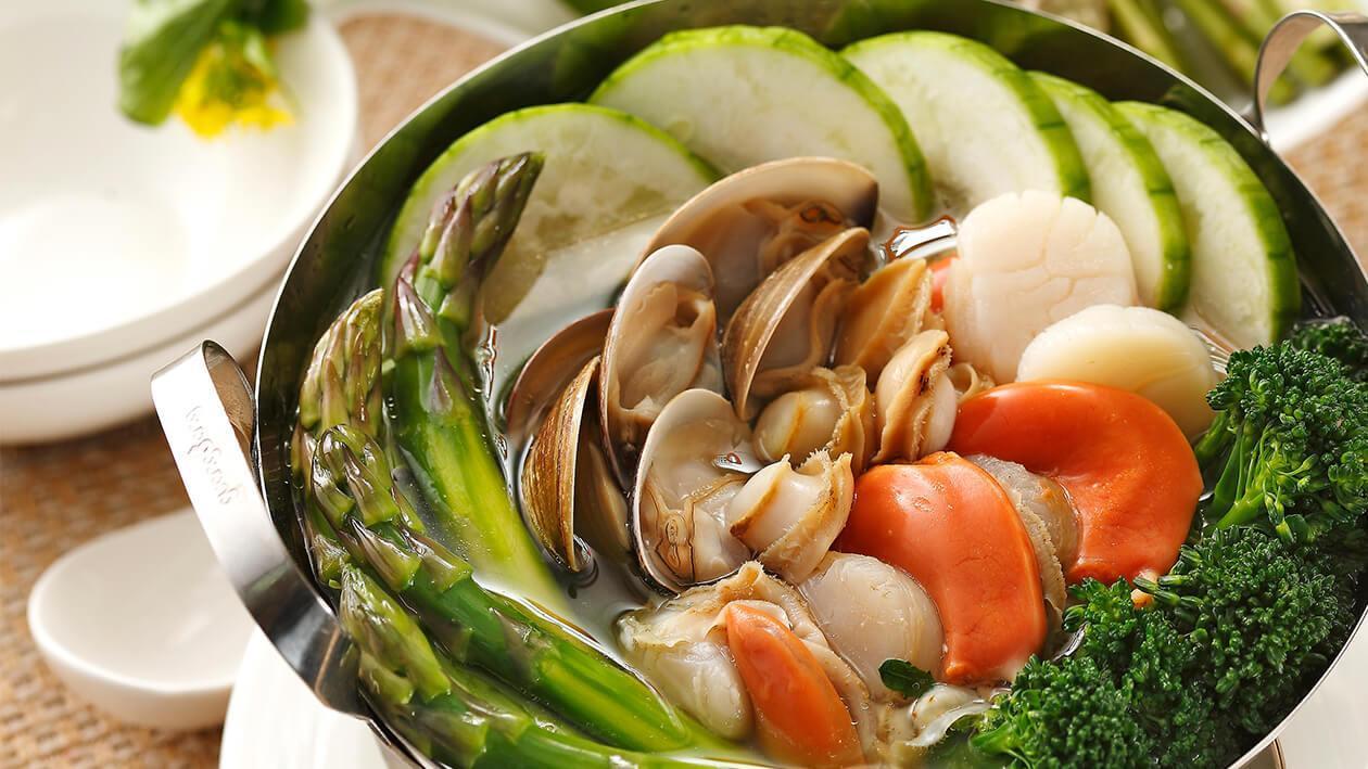 田園時蔬海貝燴