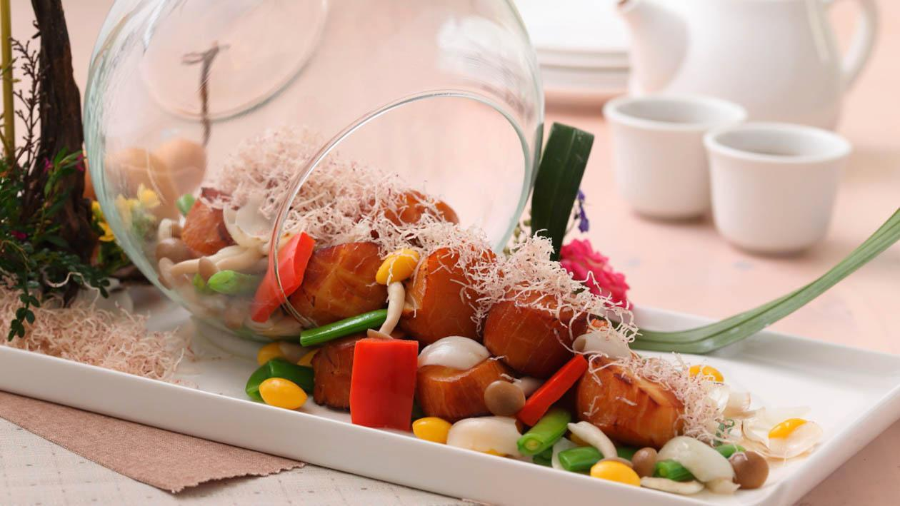 百合玉帶炒蜜豆