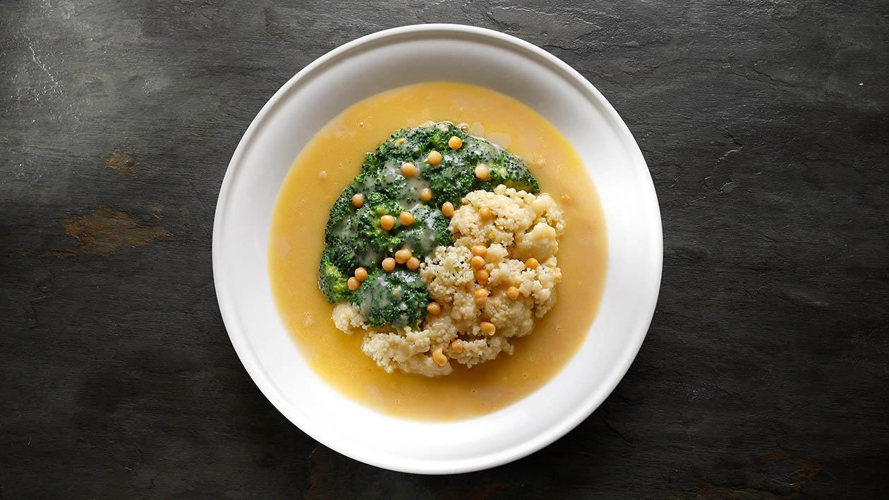 耙豌豆燴時蔬 (味型:鹹鮮味)