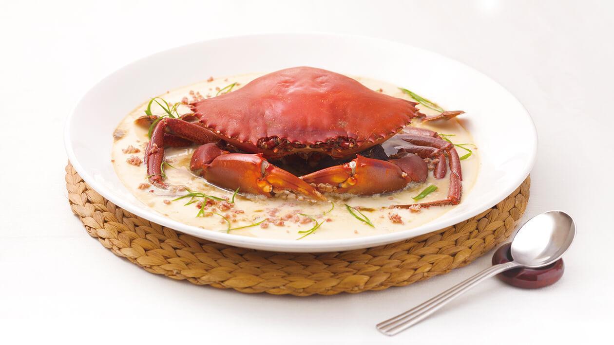 蛋白當歸蒸肉蟹