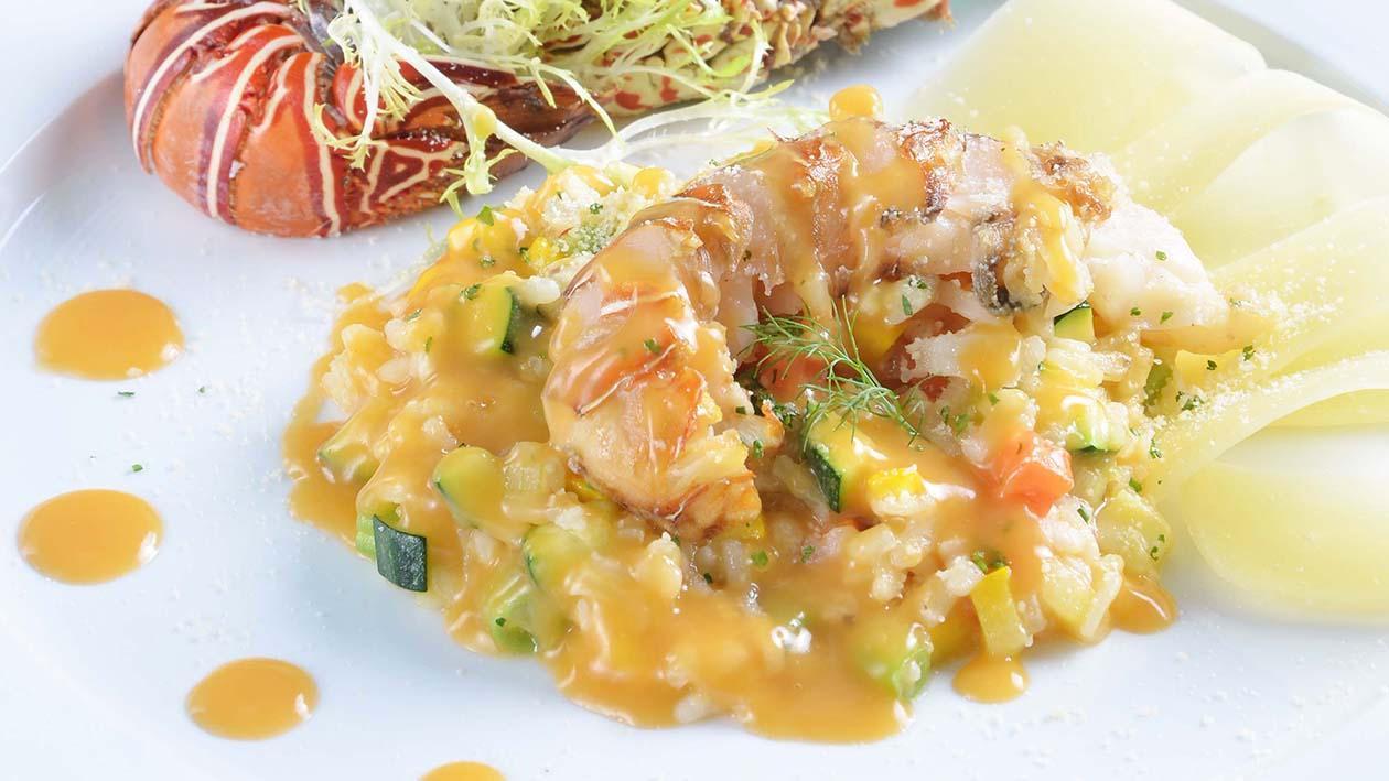 西班牙蔬菜龍蝦燉飯