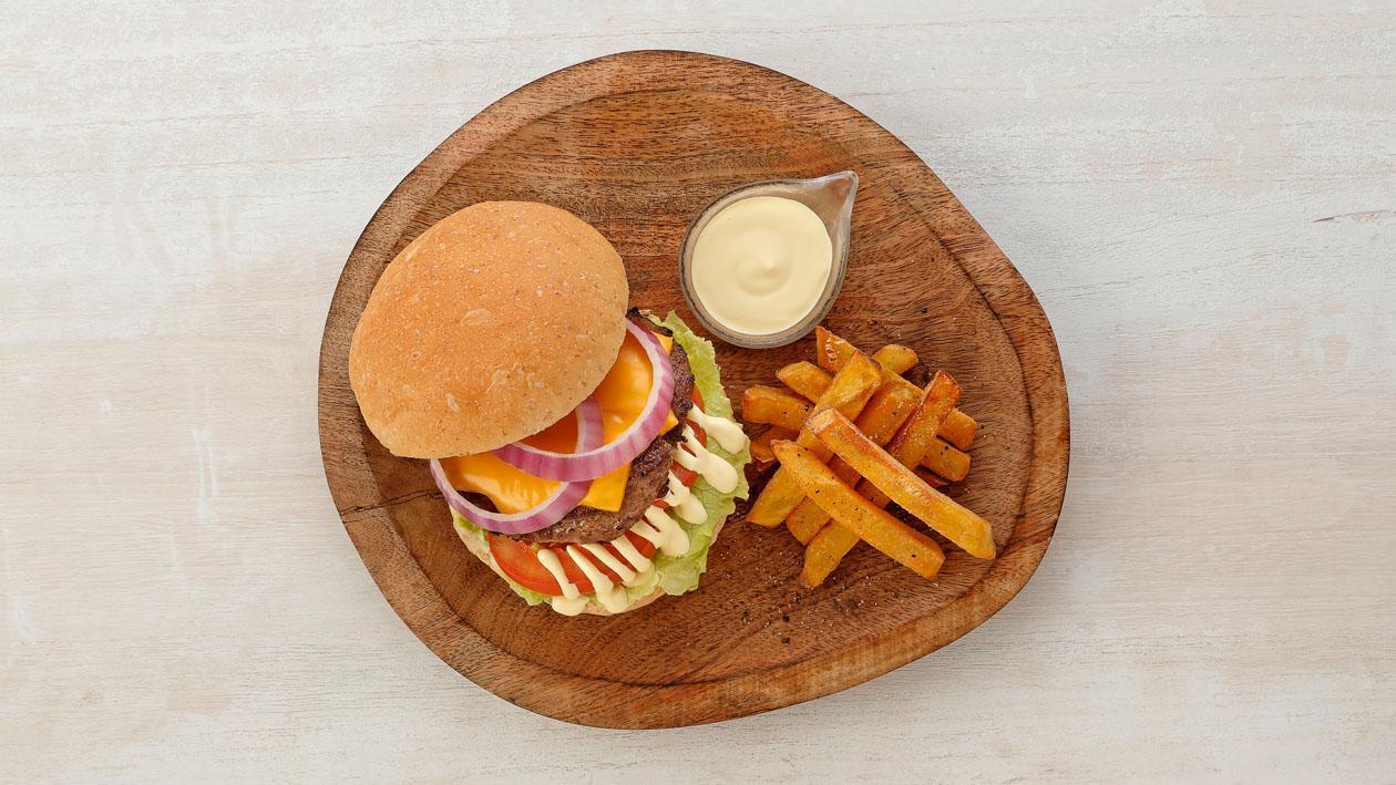起士烤牛肉漢堡荷蘭醬