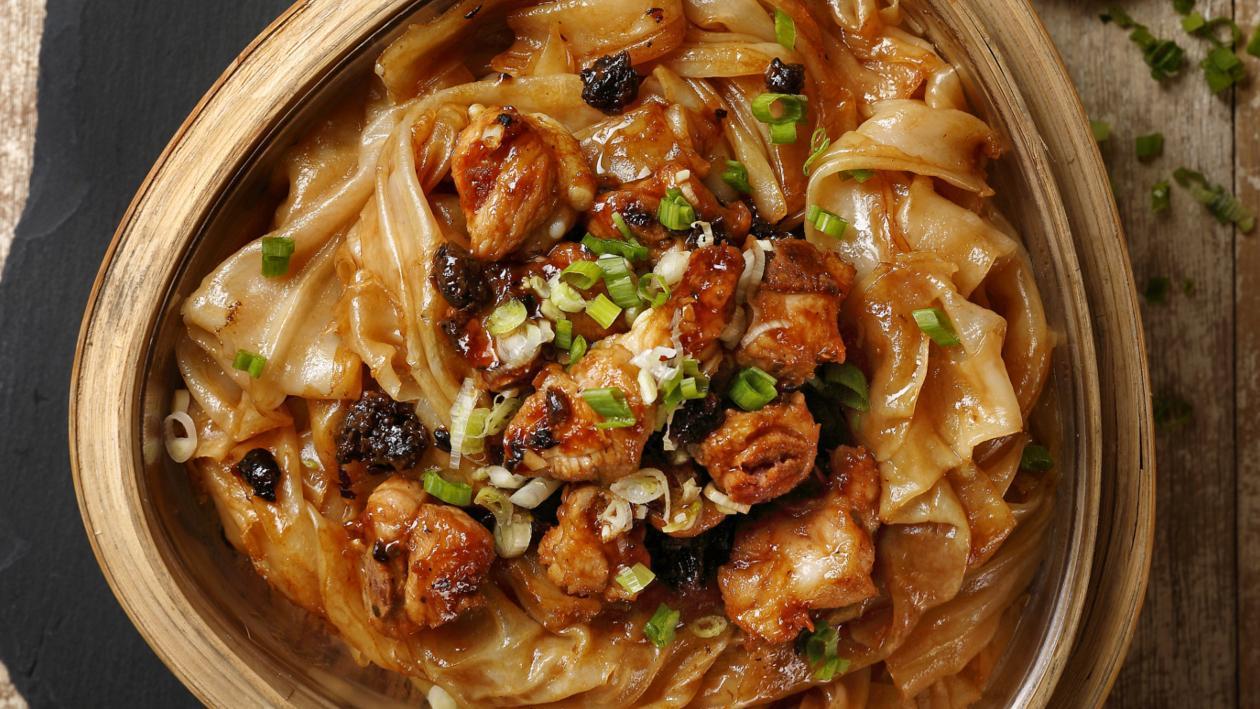 辣椒餅豉汁蒸肉排搭配陳村粉