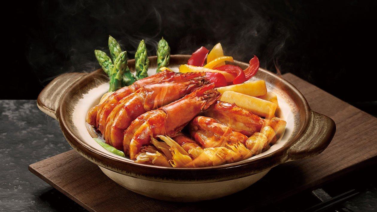 雙蠔火焰焗大蝦