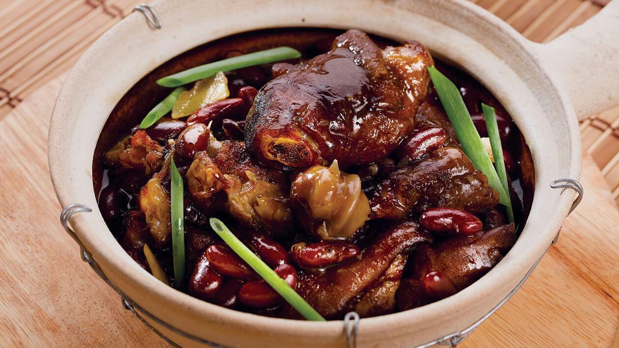 雞汁腰豆炆豬手煲