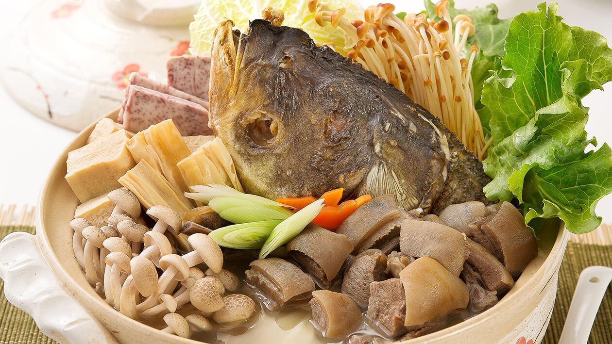 雞湯魚頭羊鮮煲