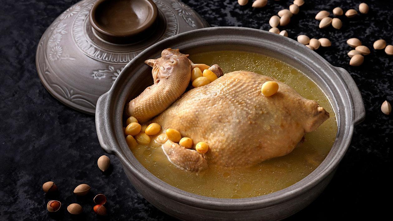 青城山銀杏燉雞 (味型:鹹鮮味)