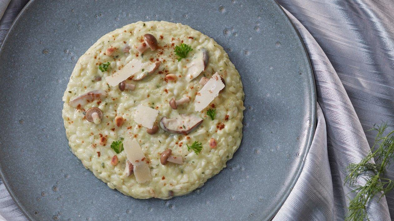 香草奶油磨菇燉飯