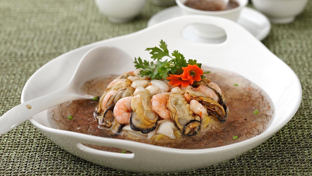 髮菜蠔豉海鮮羹