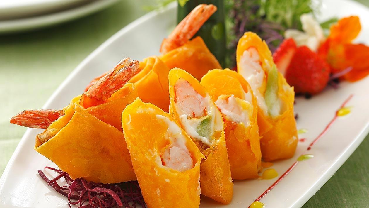 鮮蝦蔬果卷
