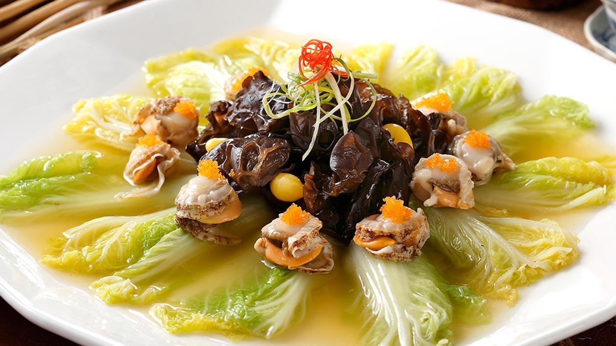 鮮貝扒菜膽
