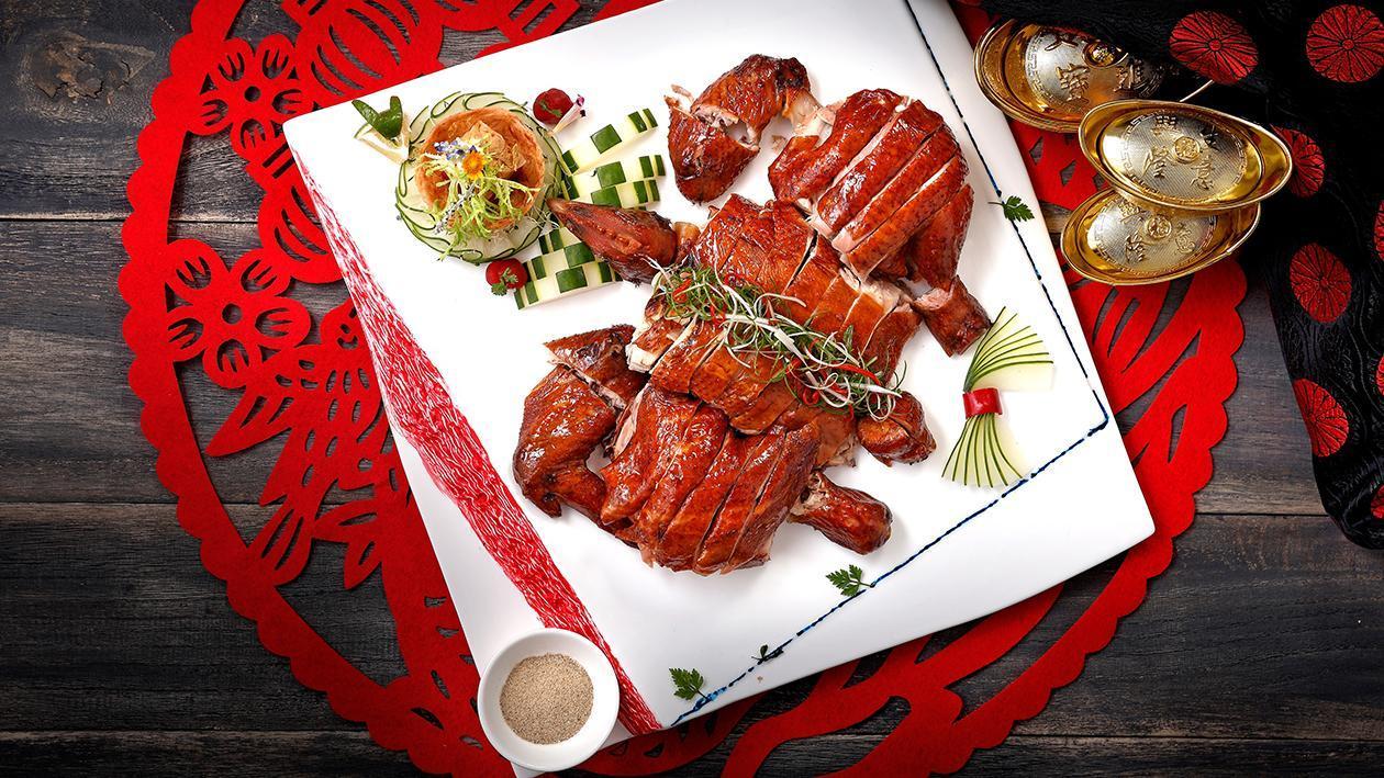 鴻運蒜味脆皮雞