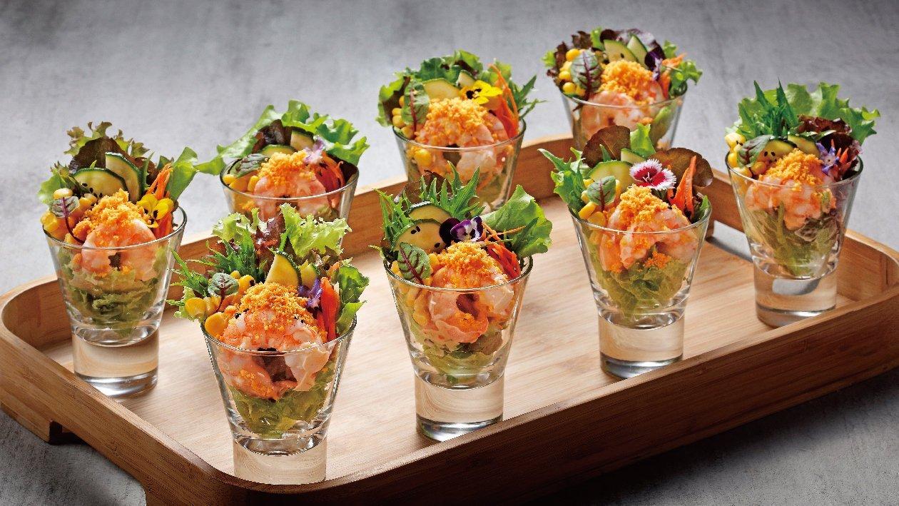 黃金千島醬蝦仁沙拉