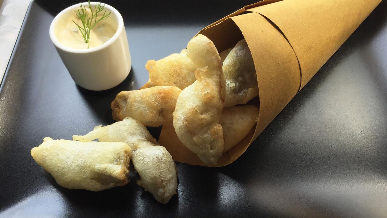 黃金朝鮮薊佐地中海式醬汁