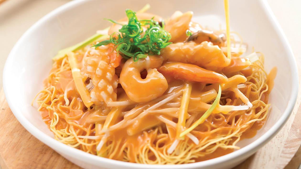 龍蝦汁海鮮炒麵